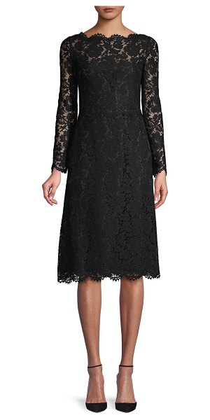 Valentino Floral Lace Dress in black
