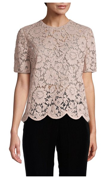 Valentino Floral Lace Top in wild rose