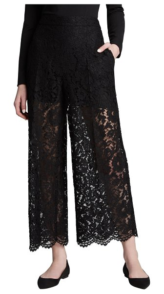Valentino Heavy Lace Cropped Pants in black
