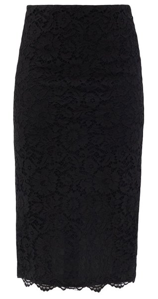 Valentino high-rise cordonnet-lace pencil skirt in black