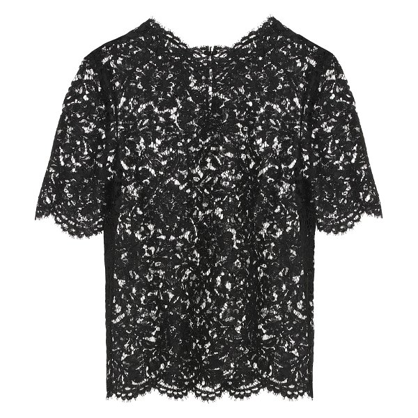Valentino lace top in black