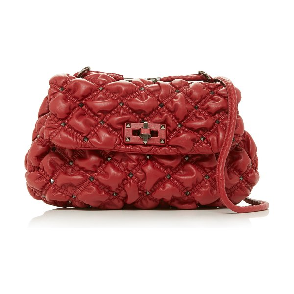 Valentino medium quilted leather shoulder bag in red