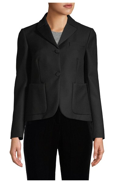 Valentino Notch Lapel Wool-Blend Jacket in nero