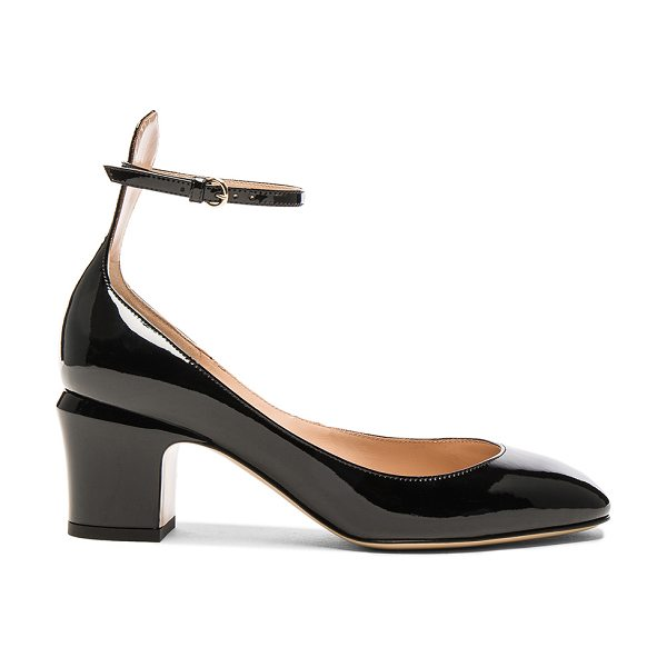 VALENTINO Patent Leather Tan-Go Pumps - Patent leather upper with leather sole.  Made in Italy. ...