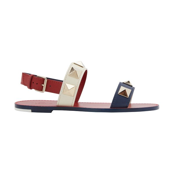 Valentino Sandals in blue ivory rosso