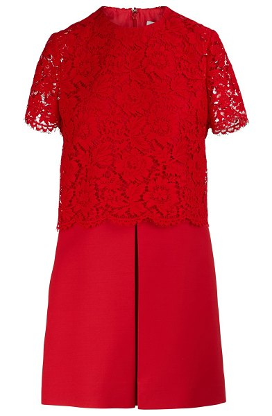 Valentino Short-sleeved dress in red - It was from '70s Rome that Pierpaolo Piccioli drew...