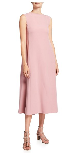 Valentino Sleeveless Cady Couture Dress With Flowy Back in light pink