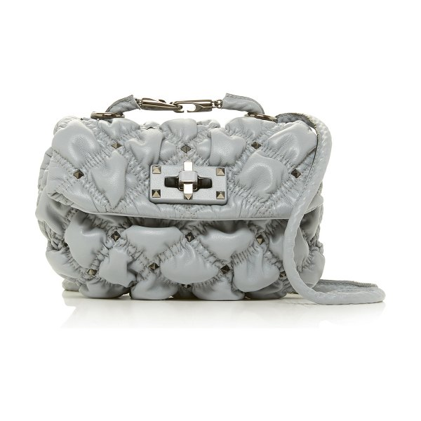 Valentino small quilted leather shoulder bag in light%20grey