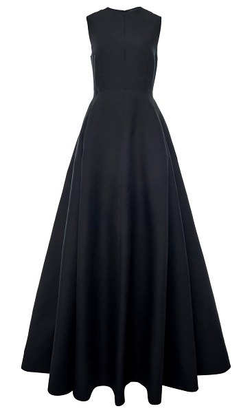 Valentino structured cotton-silk gown in black
