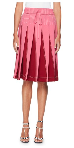 Valentino Techno Jersey Skirt with Inserts in pink/red - Valentino skirt in tech jersey with contrast insets....