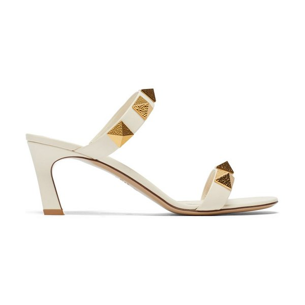 Valentino upstud point-toe leather sandals in ivory