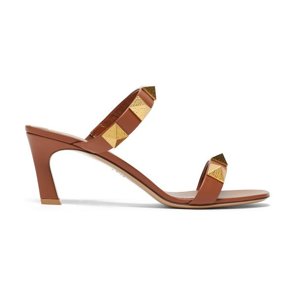 Valentino upstud point-toe leather sandals in tan
