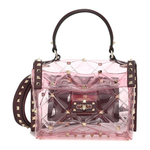 Valentino valentino garavani candystud mini pvc shoulder bag in red