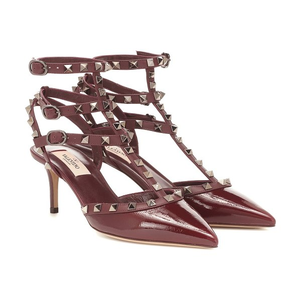 Valentino valentino garavani rockstud leather sandals in purple