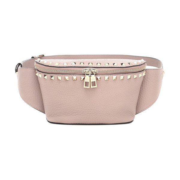 Valentino valentino garavani rockstud spike leather belt bag in pink
