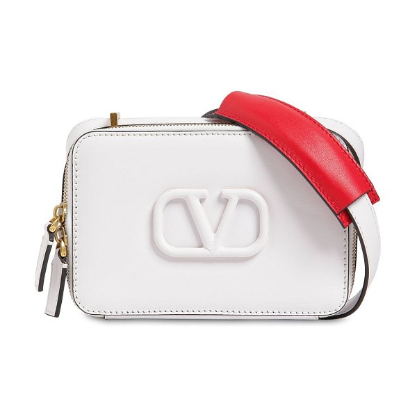 Valentino Vsling small leather camera bag in white