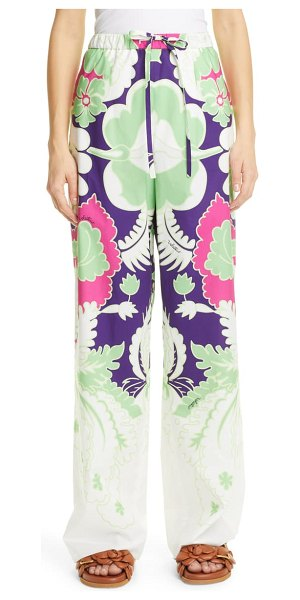Valentino wide leg pants in amethyst / radiant orchid