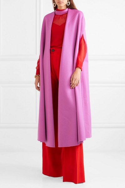 Valentino wool and cashmere-blend cape in pink
