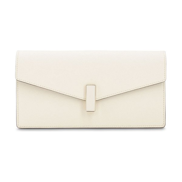 VALEXTRA Iside grained leather clutch in pergamena