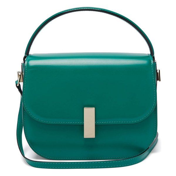 VALEXTRA iside leather cross body bag in green