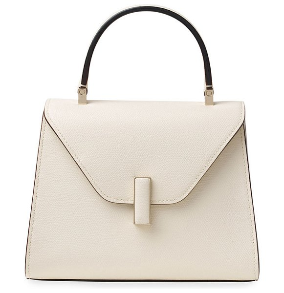 VALEXTRA Iside Mini Leather Satchel Bag in white