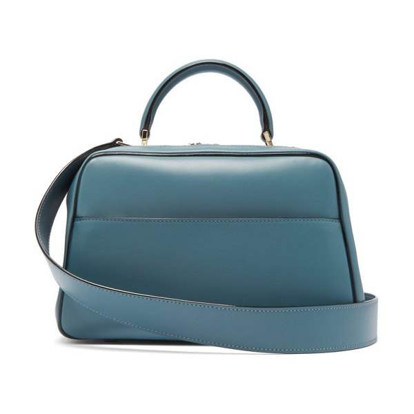 VALEXTRA serie s medium smooth-leather shoulder bag in blue