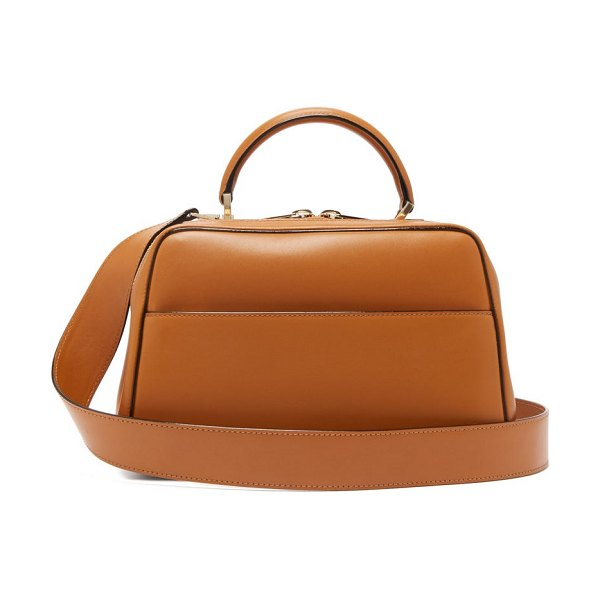 VALEXTRA serie s medium smooth leather shoulder bag in tan