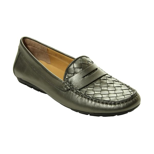 VANELi adrik loafer in pewter pearl leather