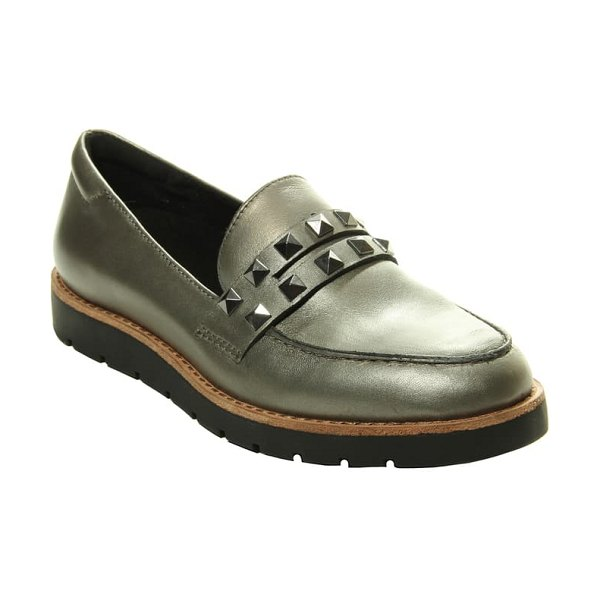 VANELi jolly loafer in pewter pearl leather