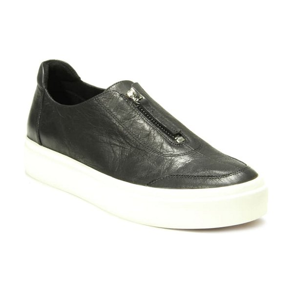 VANELi yolant platform sneaker in black cordovan leather