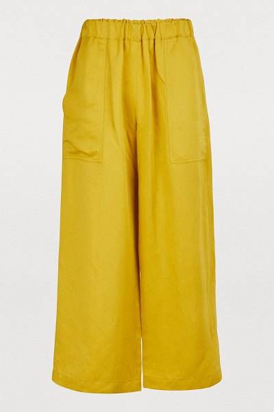 Vanessa Bruno Lyor trousers in ocre - Summer and vacation are Vanessa Bruno's main source of...