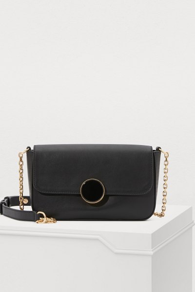 Vanessa Bruno Moon leather shoulder bag - The sophisticated nonchalance of Vanessa Bruno is clear...