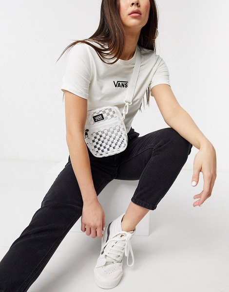 Vans checkerboard crossbody shoulder bag in clear in clear