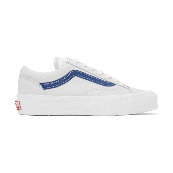 Vans grey and  og style 36 lx sneakers in blue