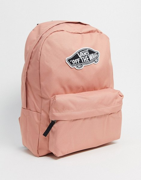Vans realm backpack in pink checkerboard-multi in multi