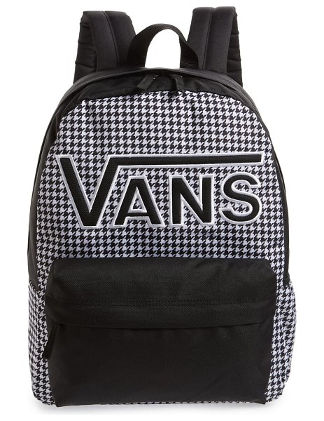 Vans realm flying v backpack in black - Schlep around school-day essentials in a classic...