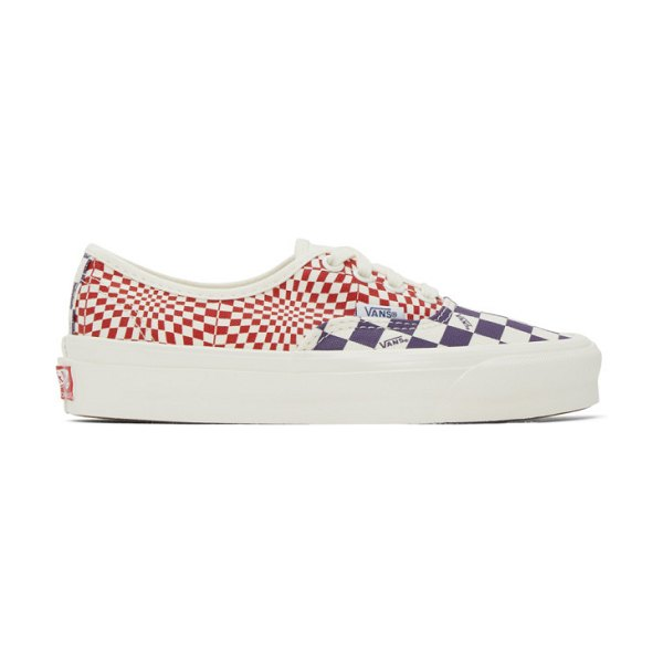 Vans red and purple check og authentic lx sneakers in violet indi