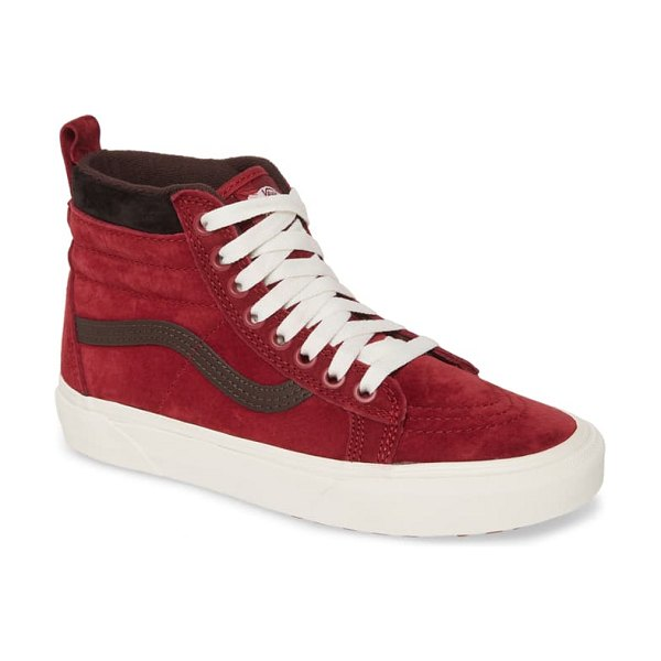 Vans sk8-hi mte weather resistant high top sneaker in biking red/ chocolate torte