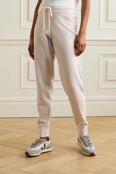 Varley alice 2.0 cotton track pants in light gray