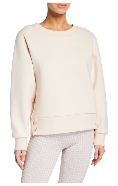 Varley Hardy Pullover Sweatshirt with Button Details in pink