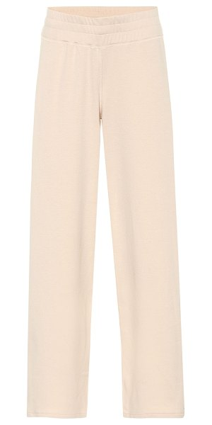 Varley navarro cotton-blend trackpants in pink