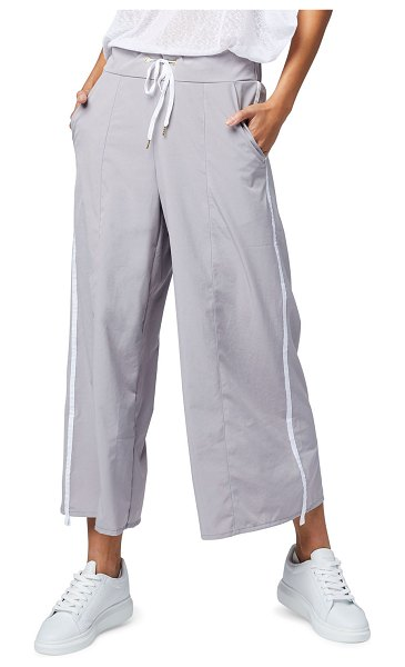 Varley Norma Side-Stripe Drawstring Pants in gray