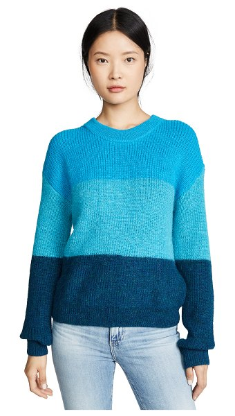 Veda ranch road alpaca sweater in blue stripes