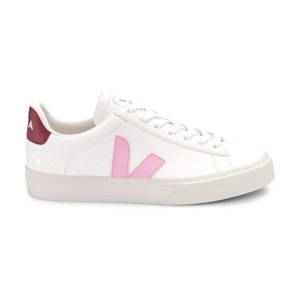 VEJA campo leather low-top sneakers in white