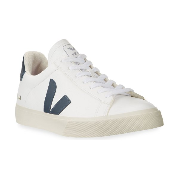 VEJA Campo Logo Leather Sneakers in white