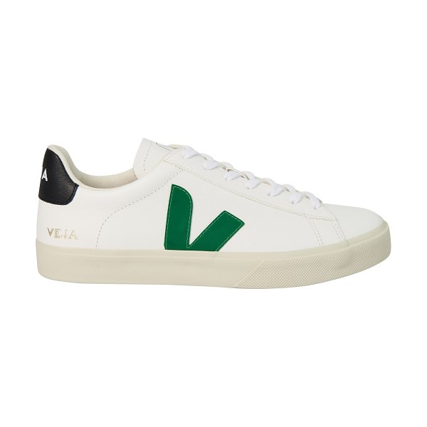 VEJA Campo trainers in extra-whte emeraude black