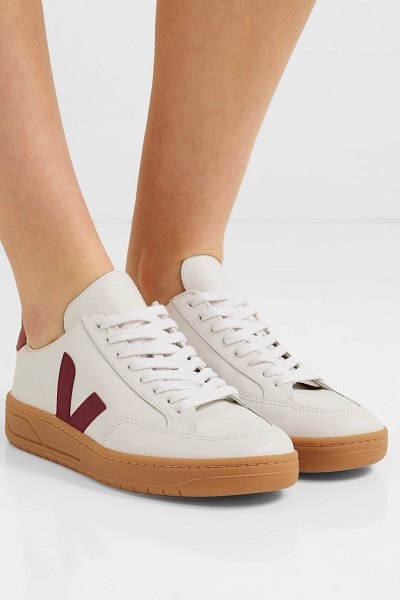 VEJA v-12 leather sneakers in white - Meghan Markle and Lucy Williams are fans of Veja's...