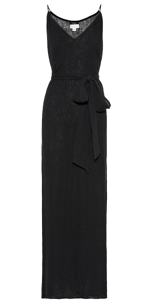 Velvet shannon cotton maxi dress in black - Velvet's Shannon dress has been crafted in the USA from...