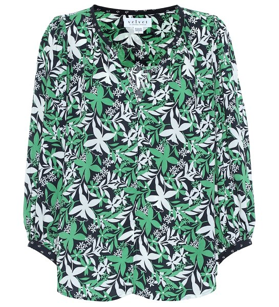 Velvet sterling floral blouse in green - Light and breezy, Velvet's Sterling blouse is a great...