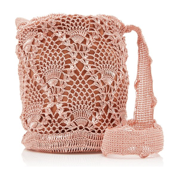 VERDI mochila crocheted bucket bag in pink